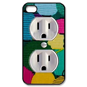 Cute Wall Outlet Custom Durable Hard Plastic Case Cover LUQ293433 For Iphone 4,4S