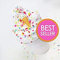 Ice Cream Birthday Cake With Sprinkles & Charm - Scented Butter Slime (Daiso) - Slime by Artistic Slimez