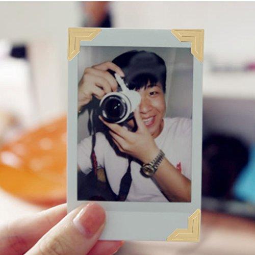 5 Blatt Fotoecken Fotokleber Selbstklebend Fotoecke Foto Sticker Tagebuch - Gold nabati