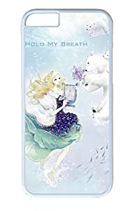 Anime Girl With Polar Bear Cute Hard Cover For iPhone 6 Plus Case ( 5.5 inch ) PC White Cases in GUO Shop