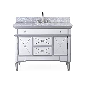 "44"" All-Mirrored Reflection Austin Bathroom Sink Vanity Model N-755W"