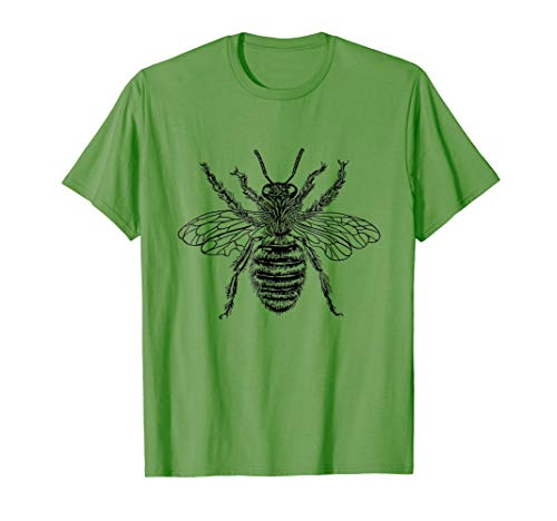- Mens Fun Graphic Bee T-Shirt Funny Biologist Queen Insect TShirt Medium Grass