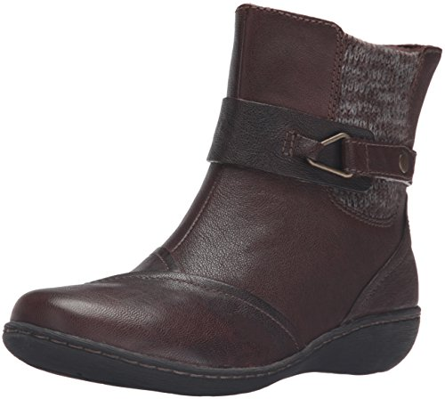 Clarks Women's Fianna Adley Boot, Brown Leather, 9.5 M US