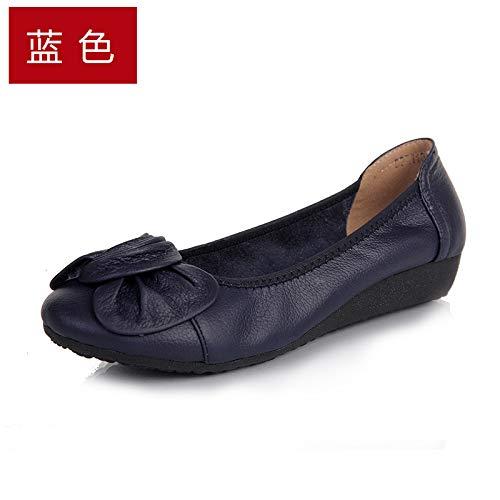 FLYRCX Casuales Casual de otoño y Cuero de cómodos de Zapatos G de Maternidad Trabajo de Zapatos Primavera Antideslizantes Zapatos Moda Zapatos 8qfrgW8