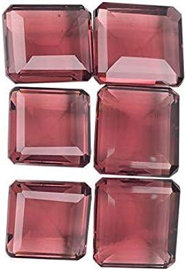 Gemhub Precioso Color cambiante Alejandrita 500,00 CT Lote de 6 Piezas Forma Cuadrada Joyas alejandrita Fabricación de Piedras Preciosas Sueltas Lote