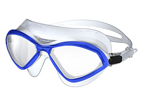 Innovative MSF046 Premium Concepts Anti Leak & Anti Fog Wide Lens Swimming Goggles, Large, - Goggles Large