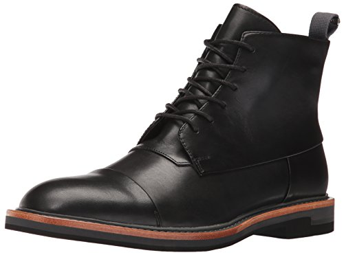 Calvin Klein Men's Jabin Leather Boot, Black, 11 M US by Calvin Klein
