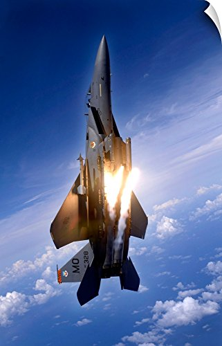 - Canvas on Demand Stocktrek Images Wall Peel Wall Art Print entitled An F15E Strike Eagle pops flares 15