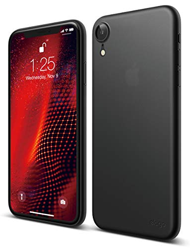 elago Inner Core Series iPhone XR case [Black] - [Thinnest and Lightest][Support Wireless Charging][Only Protects Against Scratches] Compatible with iPhone XR (2018)