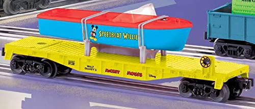 (Lionel 6-26049 Mickey Mouse Flat Car w/Speedboat Willy Load )