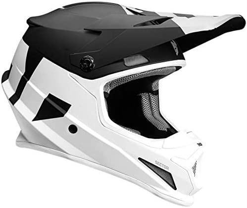 Thor Mx Helm Sector Level Schwarz Weiß Größe Xl 60 62 Cm Sport Freizeit