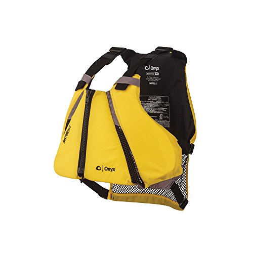 ONYX MoveVent Curve Paddle Sports Life Vest, Yellow, Medium/Large (Best Life Jacket For Canoeing)