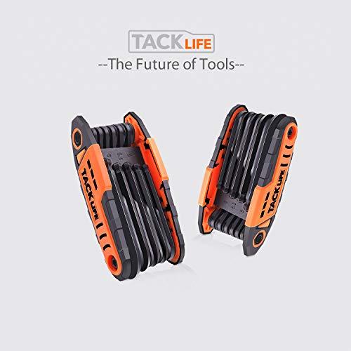 Folding Hex Keys, TACKLIFE 12-Key Ball End Folding Hex Wrench Set, 2 Pack, Metric 1.27-8mm, Chrome Vanadium Steel - HAK3A by TACKLIFE (Image #7)