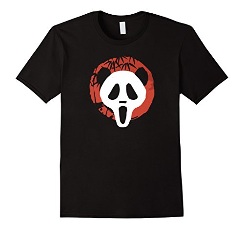 Killer Panda Costume (Mens Screaming Serial Killer Panda Halloween Costume T-Shirt 2XL Black)