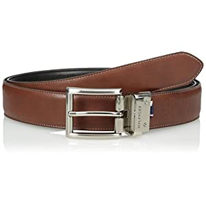 Tommy Hilfiger Men's Dress Reversible Belt, Black/Brown, 36
