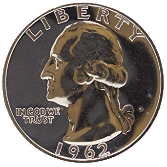 (1962 Washington Silver Quarter 25C Proof)