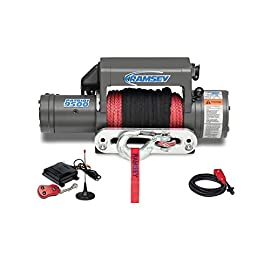 Ramsey 109212 Winch (Patriot 9500 UT, 12V, with Wireless Remote, Synthetic Rope, Aluminum Hawse Fairlead)