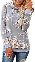 onlypuff Pullover Hoodie Sweatshirt for Women Cute Comfy Tunic Tops for Leggings Kangaroo Pocket Black S