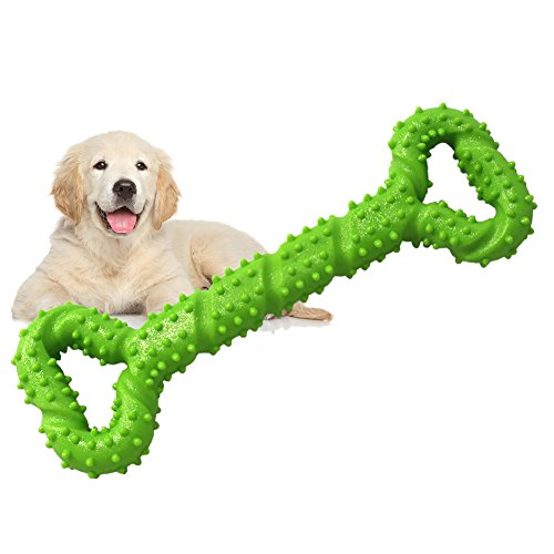 JIAJIA Durable Dog Toys for Aggressive Chewers Tough Dog Toys 13 Inch with Convex Design Strong Dog Chew Toy for Small Medium and Large Dog Bone Shape Dog Toy