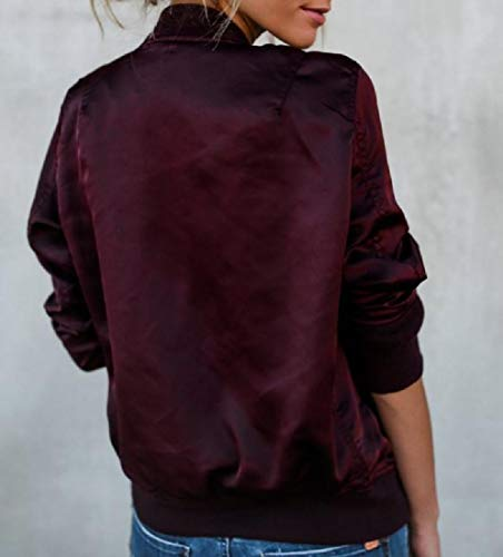 Red Boyfriend Slim Weight Wine Casual Light Womens Jacket Blouson XINHEO 7z5q1E