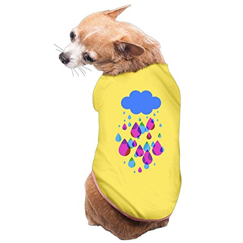 WUGOU Dog Cat Pet Shirt Clothes Puppy Vest Soft Thin Lovely Rainy Days 3 Sizes 4 Colors Available