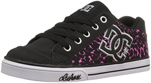 DC Girls' Chelsea Graffik Sneaker, Black/Pink, 7 M US Big - Kids Dc Shoes Chelsea
