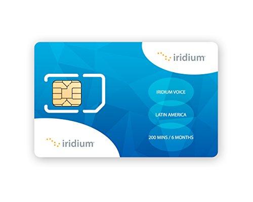 Iridium Satellite Phone Latin America Prepaid SIM Card with 200 Minutes (180 Day Validity) (Phones Iridium)