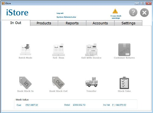 Istore Inventory Control Software Barcode Invoicing Stock - Invoice control software