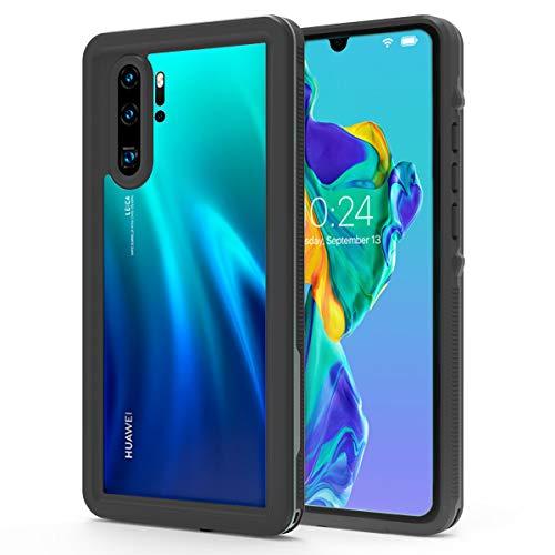 [해외]IP68 Waterproof Transparent Phone Case for Huawei P30 Pro Full-Body Protective Rugged CaseClear Back Cover Case with Built-in Screen Protector for Huawei P30 Pro (2019 Release) (Black) / IP68 Waterproof Transparent Phone Case for H...
