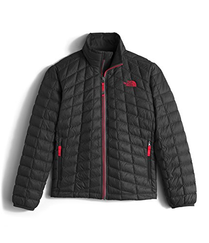The North Face Boy's Thermoball Full Zip Jacket TNF Black/TNF Red Size Small by The North Face