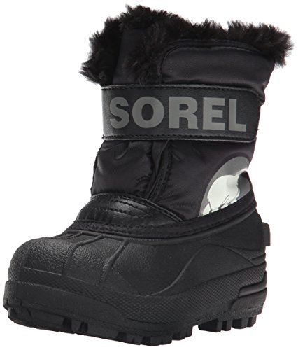 Sorel Commander B Coal Cold Weather Boot , Black/Charcoal,9 M US Toddler ()