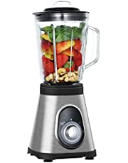 Blenders for kitchen, Hom Geek 750W Smoothie Countertop Blender with 48oz Tritan Glass Pitcher for Shakes, Smoothies, Ice Crushing and Frozen Fruits, 2 Adjustable Speeds & Pulse Function