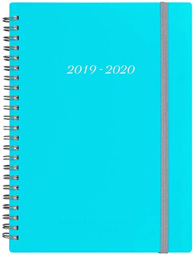 2019-2020 Academic Planner - Weekly & Monthly Planner with Tabs, Elastic Closure and Thick Paper, Back Pocket with 21 Notes Pages, 5