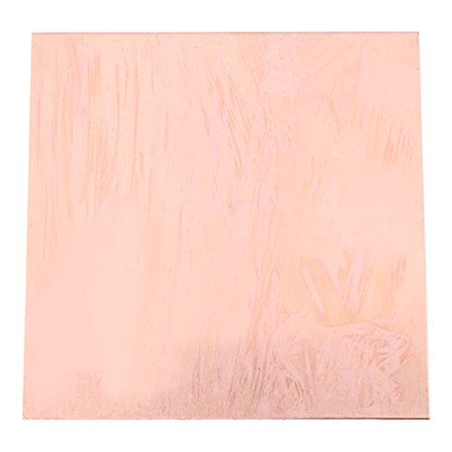 BetterUS 99.9% Pure Copper Cu Metal Sheet Plate 100x100x1mm
