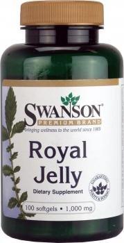 Swanson - Gelée Royale PUR 1000mg, 100 Kapseln - Körperliche & Geistige Müdigkeit, Stress, Menopause, Cholesterin & Ulzera - Natürliche Bio-Aktiv Nahrungsergänzung (Royal Jelly softgels capsules)