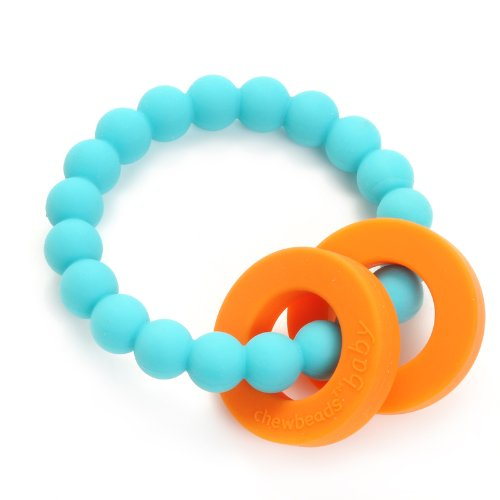Chewbeads Mulberry Baby Teether, Turquoise CHB-2100-TUR