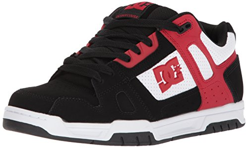 DC Shoes - Sneaker STAG, Uomo Black/White/Red