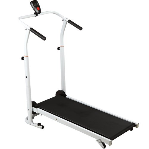 H.B.S Folding Portable Incline Manual Treadmill Walking Running Fitness Gym Machine
