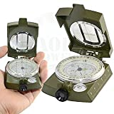 AOR Power #AOR194 Compass Military Prismatic Sighting Lensatic Compass w/ Pouch for Camping Hiking (Green Lensatic-Prismatic, Large)