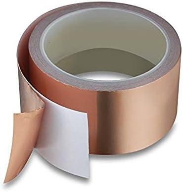Demarkt EMI Tape Folie Klebeband Klebeband Selbstklebend Abschirmband Kupferfolie Kupferband Schneckenschutz f/ür Gitarren und EMV//EMI Abschirmung