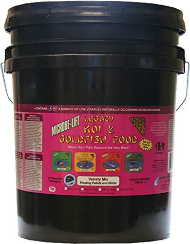 Floating Food Fish (Ecological Laboratories MLLVMXL Microbe-Lift All Season Variety Mix Pond Food, 14.5 lb)