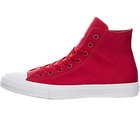 - Converse Unisex Chuck Taylor All Star II Hi Salsa Red/White/Navy Sneaker