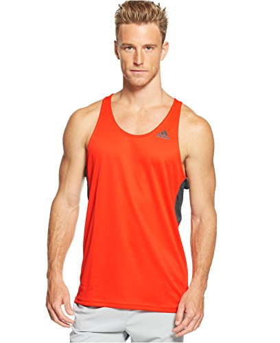 Adidas Mens Supernova Performance Tank Bold Orangeblack Large