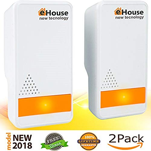 Insects Bed Bugs - Ultrasonic Pest Repeller - (2 Pack) Electronic Plug in Best Repellent - Pest Control - Get Rid Of - Rodents Squirrels Mice Rats Insects - Roaches Spiders Fleas Bed Bugs Flies Ants Mosquitos Fruit Fly!