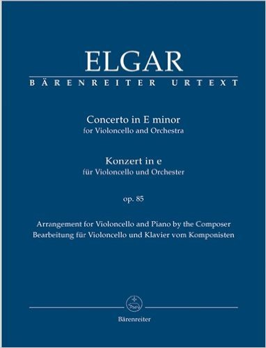 Cello Concerto Sheet Music - Elgar Edward Concerto in e-minor Op 85 Cello and Piano edited Jonathan Del Mar - Barenreiter Verlag