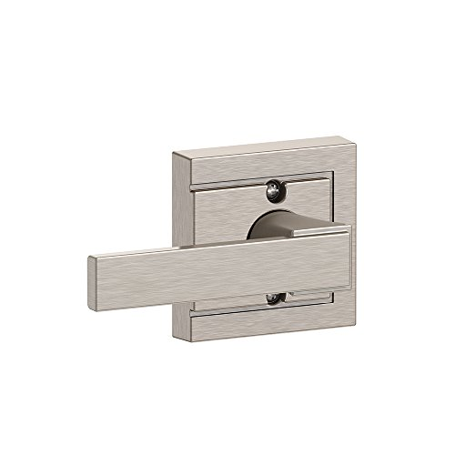 Northbrook Lever with Upland Trim Non-Turning Lock, Satin Nickel (F170 NBK 619 ULD)