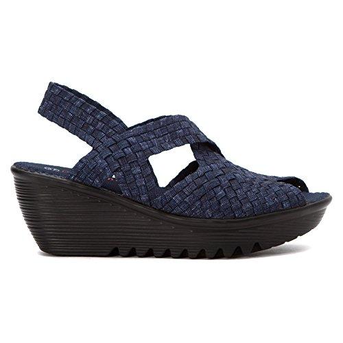 Mev Bernie Women's Wedge Sandal Jeans 'Brighten' xv6w1d40q6