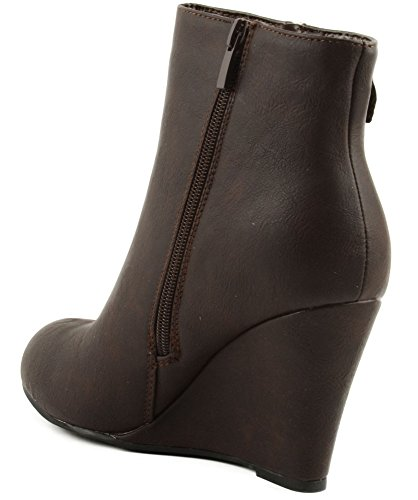 Bootie Forever Coffee Forever Addison Link 22 Heel Wedge 22 Ankle Addison Link vTqvOxnr1