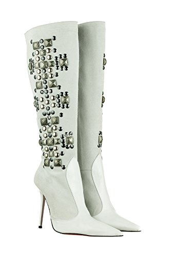 Below Gianrico the Mori Knee Women's White Boots 6tOtTrwq