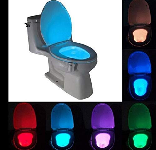 Color Accesorios de decoraci/ón higi/énico ba/ño de luz autom/ática de la versi/ón Mejorada de inducci/ón PiniceCore Cuarto de ba/ño WC Nightlight
